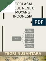 Teori Asal Usul Nenek Moyang Indonesia.pptx