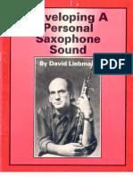 SAXOFONE - ARTIGO - Desenvolvendo o Som - David Liebman