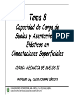 Tema 8 Capacidad de Carga y Asentamientos de Suelos
