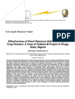 Effectiveness of Direct Resource Delivery Policy to Crop Farmers a Case of Fadama III Project in Enugu State Nigeria