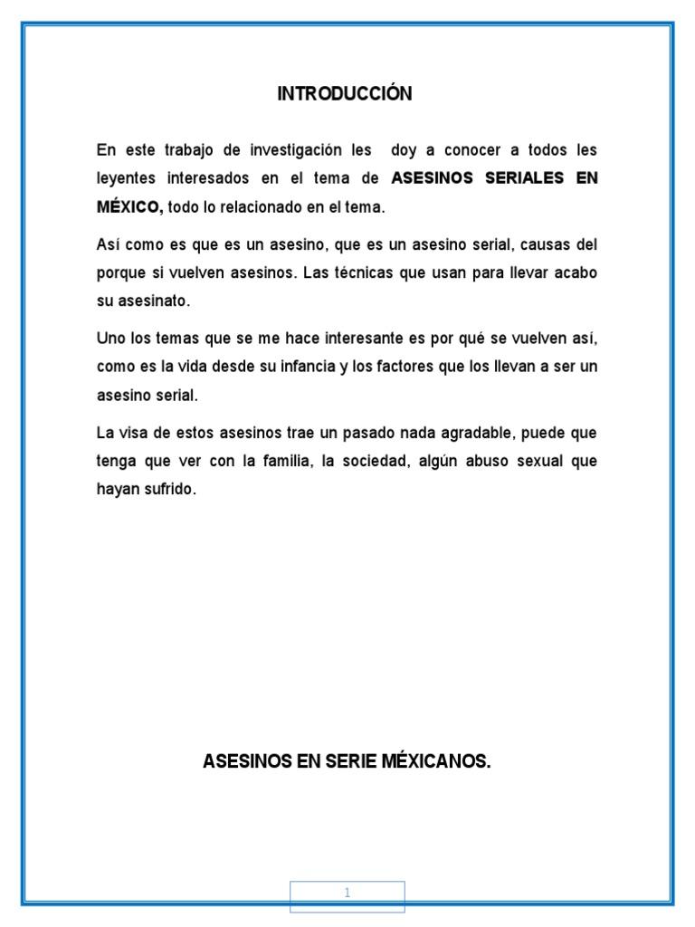 Asesinos en Serie Méxicanos