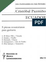 5 Piezas Ecuatorianas Para Guitarra Cristobal Pazmino