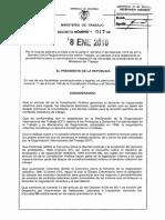 Decreto 17 Del 08 de Enero de 2016 Tribunales de Arbitramento