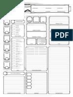 Character Sheet - Print Version