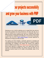 Manage your projects successfully and grow your business with PMP training