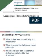 MGB 610-611 - Wk 4 Leadership - Fa2015 - Handout