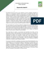 Programa Desarrollo Infantil I