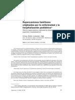 Repercusiones Familiares Originadas Por La Enfermedad y Hospitalacion Pediatrica