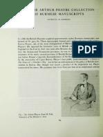 The Sir Arthur Phayre Collection of Burmese Manuscripts