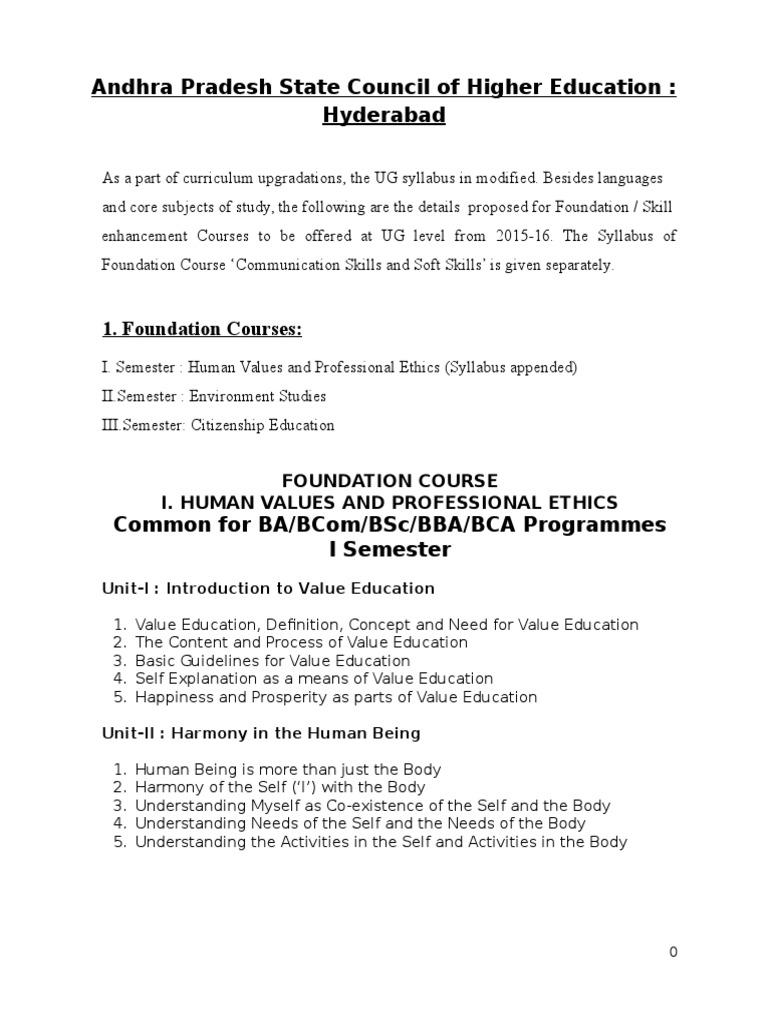 Foundation Courses Syllabus 01122015 | Ecosystem | Biodiversity