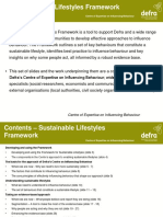 Defra - Sustainable Lifestyles Framework