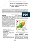 Critical Study of Ground Water Potential of Part of Obubra Local Government Area Cross River State Nigeria