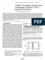 Internal Electric Field in the Space Charge Layer of a Solar Cell Based on Silicon in the Presence of Excitons