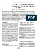 Assessment of Patient Problems Encountered With Total Hip Replacement at Baghdad Teaching Hospitals