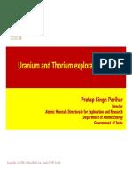 Uranium and Thorium Exploration in India