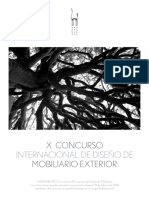 Convocatoria X CONCURSO  INTERNACIONAL DE DISEÑO DE  MOBILIARIO EXTERIOR