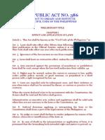 Civil Code - Preliminary Title