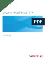 DocuPrint M215 b 사용자 매뉴얼