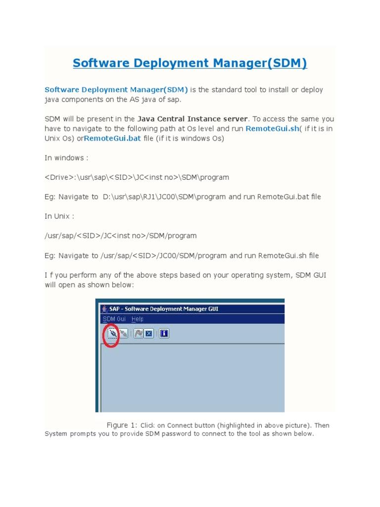 Sap - Sdm Tool | Operating System (31 views)