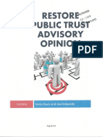 Restore Public Trust Advisory Opinion With Exhibits and Documents