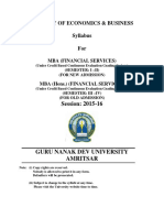 Mba Financial Services Semester i to IV Cbcegs