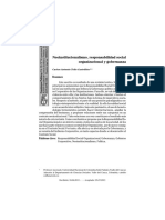 Neoinstitucionalismo, Responsabilidad Social Organizacional y Gobernanza - Revista Cuestiones Políticas