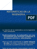 Matemticas en La Ingenieria