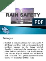 Report # 41 Rain Safety