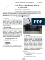 Compressed Air Production Using Vehicle Suspension