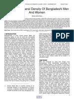 Peak Bone Mineral Density of Bangladeshi Men and Women
