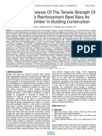 Comparative Analysis of the Tensile Strength of Bamboo and Reinforcement Steel Bars as Structural Member in Building Construction
