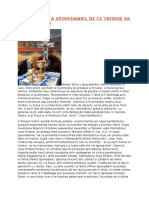 SFANTA TAINA a SPOVEDANIEI Material Pentru Foaia Parohiala
