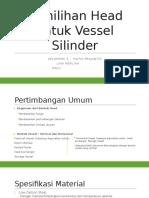 Pemilihan Head Untuk Vessel Silinder