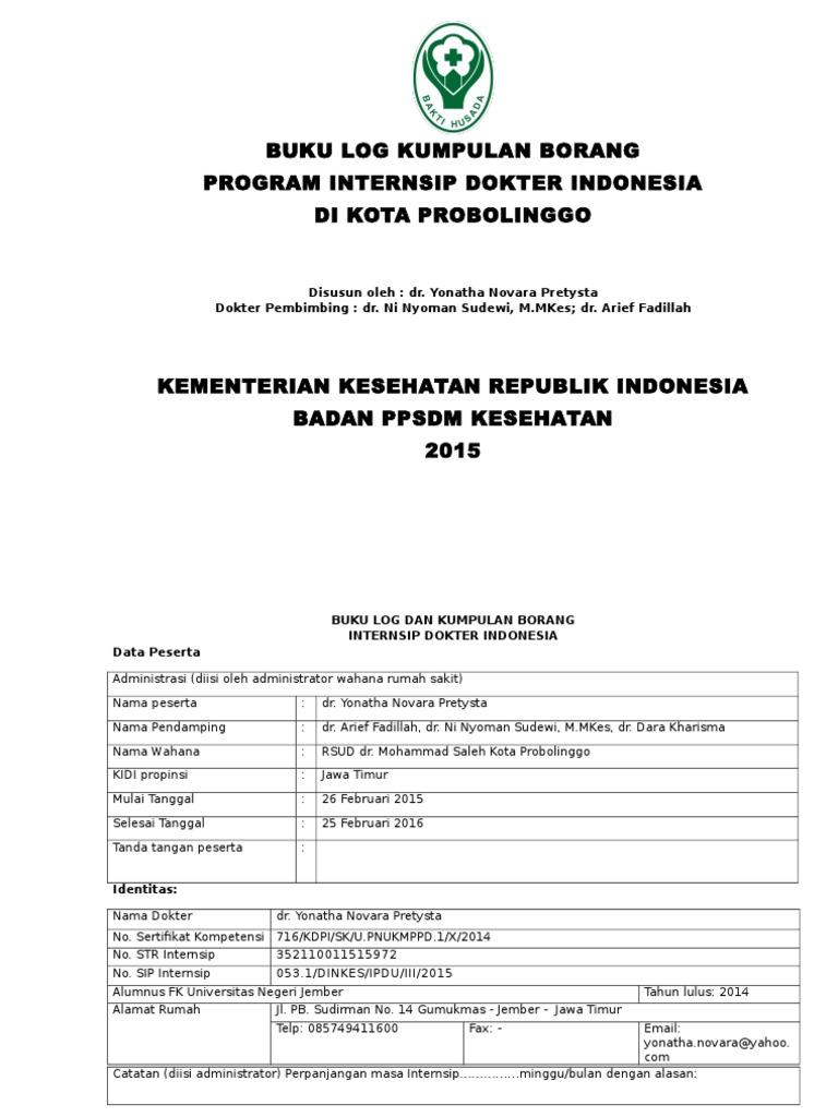 Format Buku Log Borang Internsip