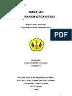 Makalah Perubahan Organisasi
