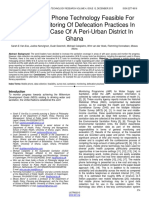Is the Mobile Phone Technology Feasible for Effective Monitoring of Defecation Practices in Ghana the Case of a Peri Urban District in Ghana