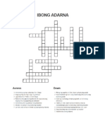 Ibng Adarna Crossword Puzzle