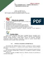 Tema 11. B__ncile Comerciale ñ Verig__ de Baz__ a Sistemului Bancar
