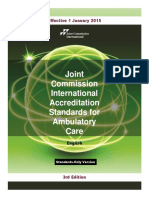 Jci Ambulatory Care 3e Standards Only