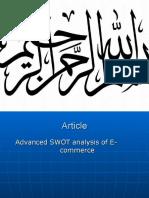 Advanced Swot Analysis of e Commerce