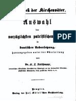 Cirilo de Jerusalen Bibliothek Der Kirchenväter Vol 06 1871