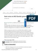 Basic Notes on BGP (Border Gateway Protocol) _ Sysnet Notes