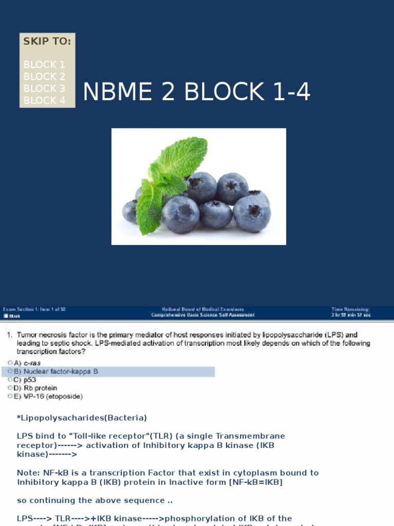NBME 2 BLOCK 1-4 (With Answers) | Thrombosis | Coagulation