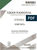 2015 - Un Bahasa Indonesia Smp