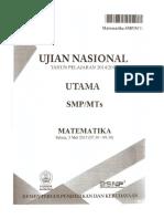 2015 - Un Matematika Smp