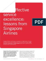 cost effective service excellence lessons from singapore Human resource and cost-effective service excellence at singapore airlines - stringent selection and recruitment process - extensive investment in training and retraining.