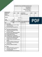 Inspection Checklist Platformer Reactor Vessel
