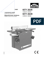 Kity 2636 Planer Thicknesser instruction manual
