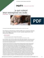 Ces Français Qui Créent Leurs Entreprises en Inde