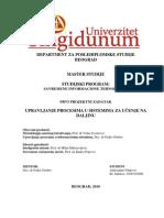 Upravljanje Procesima u Sistemima Za Ucenje Na Daljinu
